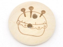Wooden button (20 mm) - Pin cushion