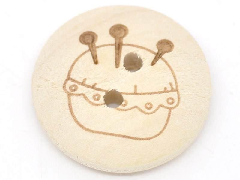 Acheter Bouton en bois 20mm - pique aiguille - 0,39€ en ligne sur La Petite Epicerie - Loisirs créatifs