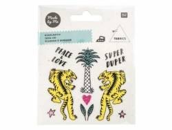 Petits écussons thermocollants - tigres et palmier