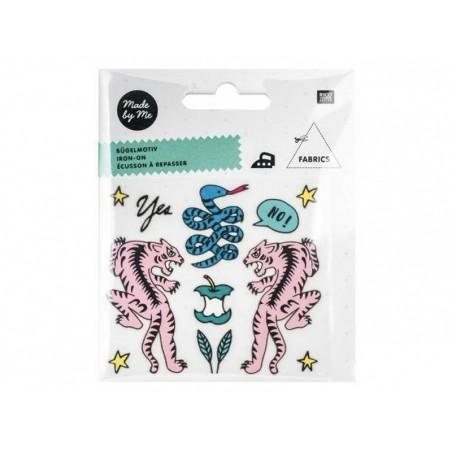 Acheter Petits écussons thermocollants - tigres et serpent - 3,49€ en ligne sur La Petite Epicerie - 100% Loisirs créatifs