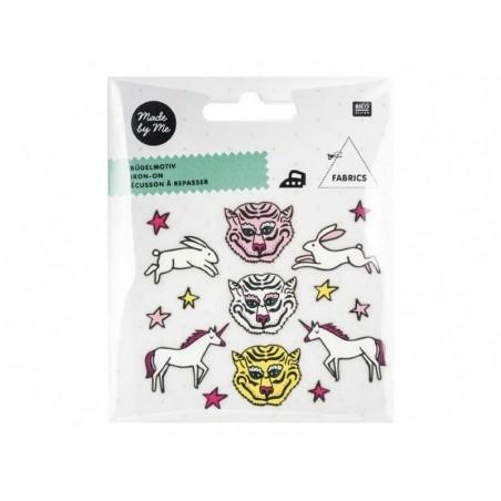 Acheter Petits écussons thermocollants - tigres, licornes et lièvres - 3,49€ en ligne sur La Petite Epicerie - Loisirs créatifs