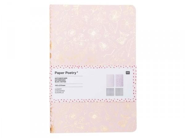 Acheter Lot de 2 carnets, motifs rosegold - 14.5 cm x 21 cm - 9,99€ en ligne sur La Petite Epicerie - 100% Loisirs créatifs