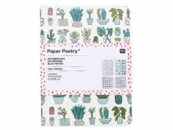 Lot de 2 carnets, motifs cactus et triangles - 10.5 cm x 14 cm