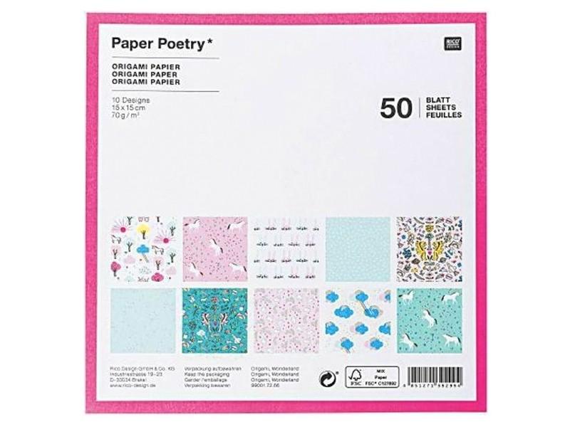 Acheter 50 feuilles de papier Origami - 10 designs - 6,19€ en ligne sur La Petite Epicerie - Loisirs créatifs