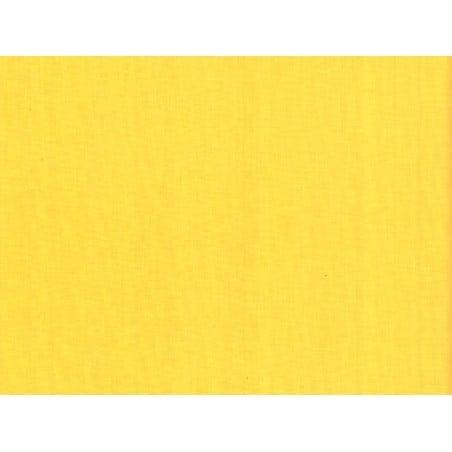 Tissu coton uni Jaune  - 1