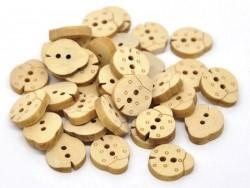Bouton en bois - coccinelle