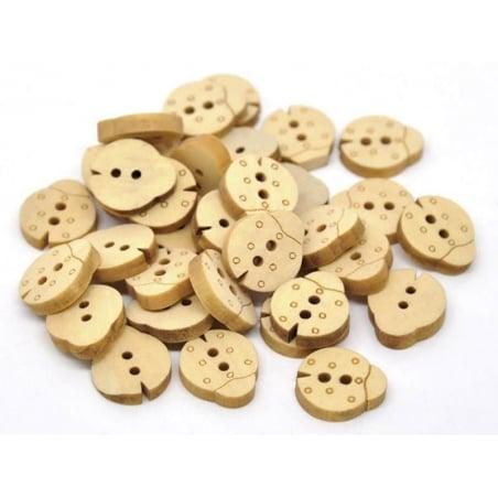 Wooden button - Ladybird