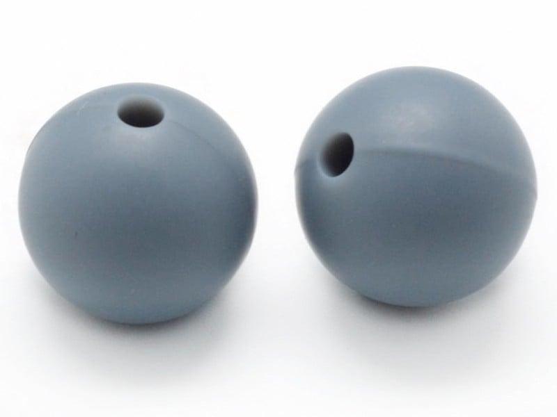 Acheter Perle de 12 mm en silicone - gris - 0,59€ en ligne sur La Petite Epicerie - 100% Loisirs créatifs