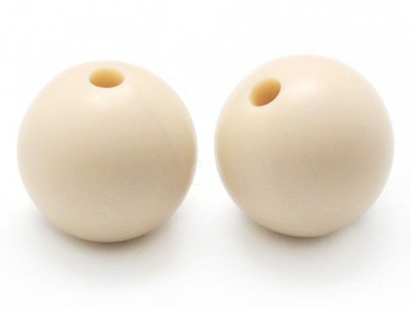 Acheter Perle ronde 12 mm en silicone - beige - 0,59€ en ligne sur La Petite Epicerie - 100% Loisirs créatifs