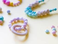 Acheter Perle ronde 12 mm en silicone - aqua - 0,59€ en ligne sur La Petite Epicerie - Loisirs créatifs