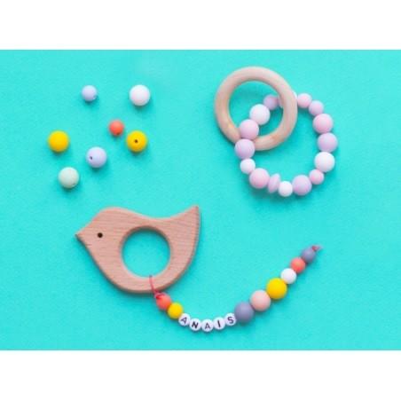 Acheter Perle ronde 12 mm en silicone - jaune - 0,59€ en ligne sur La Petite Epicerie - 100% Loisirs créatifs