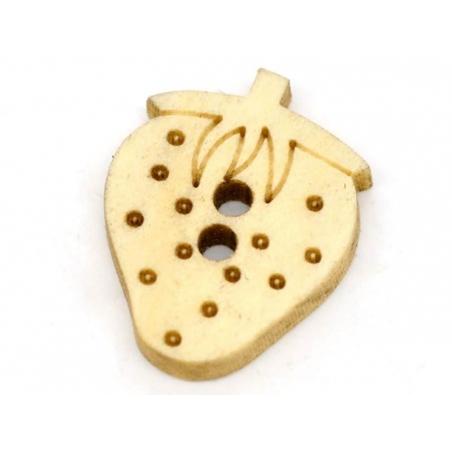 Acheter Bouton en bois - fraise - 0,49€ en ligne sur La Petite Epicerie - Loisirs créatifs