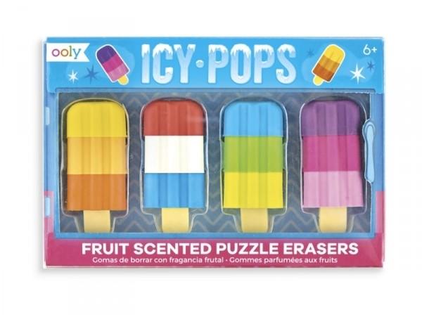 Acheter Lot de 4 gommes esquimaux Icy pop - 4,49€ en ligne sur La Petite Epicerie - 100% Loisirs créatifs