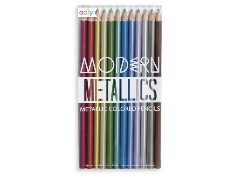 Acheter Lot de crayons de couleur métalliques - Modern metallics - 11,99€ en ligne sur La Petite Epicerie - Loisirs créatifs