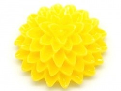 1 Cabochon - fleur jaune