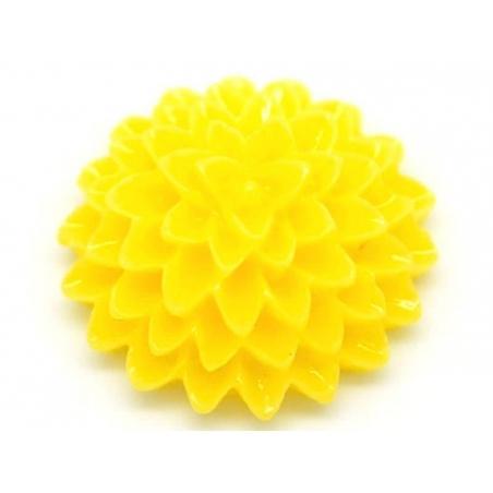 1 Cabochon - fleur jaune  - 1