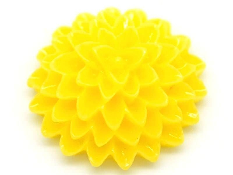 1 flower cabochon - yellow