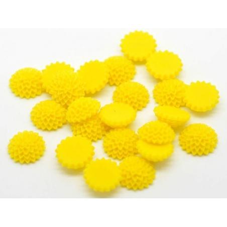 1 Cabochon - fleur jaune  - 2