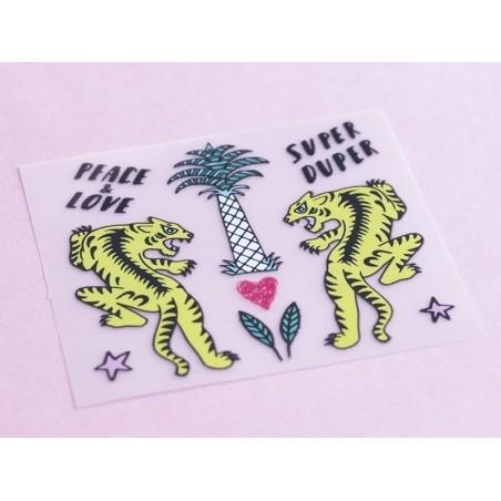 Acheter Petits écussons thermocollants - tigres et palmier - 3,49€ en ligne sur La Petite Epicerie - 100% Loisirs créatifs
