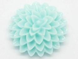 1 flower cabochon - pastel blue