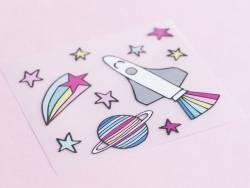 Petits écussons thermocollants - espace  - 2