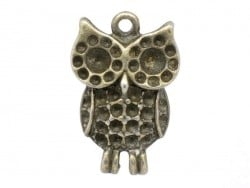 1 owl charm - bronze-coloured