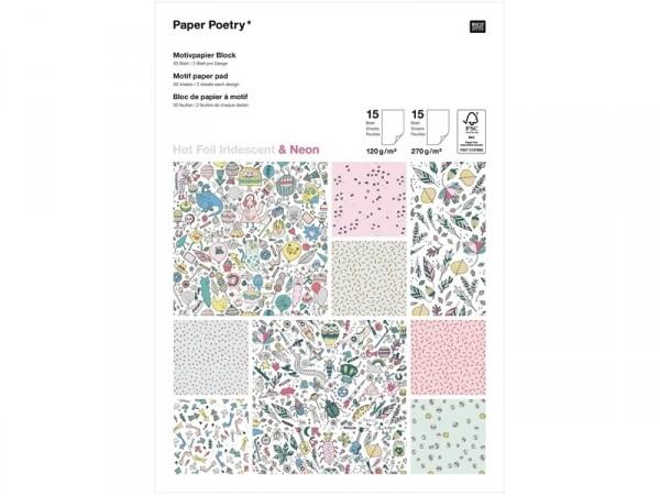 Acheter Bloc de papier à motif - Monster Party / Hot Foil Iridescent & Neon - 15,49€ en ligne sur La Petite Epicerie - Loisi...