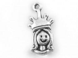 1 queen charm - dark silver