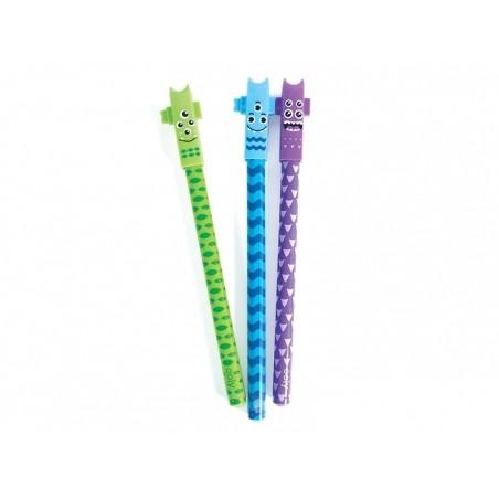 Acheter Lot de 4 stylos gel à pointe fine noire - Monstres - 8,99€ en ligne sur La Petite Epicerie - Loisirs créatifs