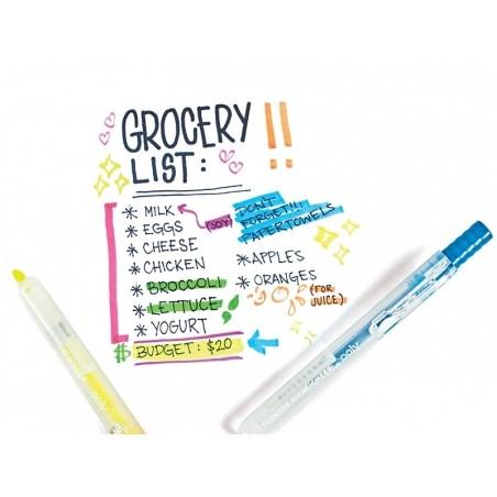 Acheter Lot de 6 surligneurs rétractables, parfumés aux fruits - 14,99€ en ligne sur La Petite Epicerie - 100% Loisirs créatifs