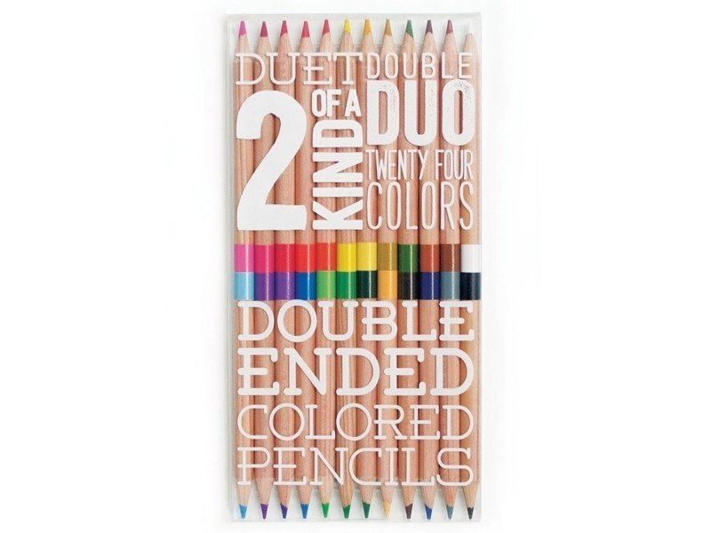 Lot de 12 crayons double pointes - 24 couleurs  Ooly - 1