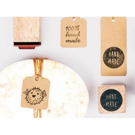 """Acheter Lot de 10 tampons et d'un encreur noir - thème """"Fait Main"""" - 8,99€ en ligne sur La Petite Epicerie - 100% Loisirs cr..."""