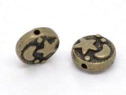 Perle metal ciel étoilé - couleur bronze  - 1