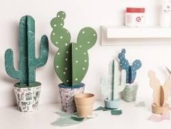 Acheter Cactus cierge en papier mâché - boite secrète - 6,19€ en ligne sur La Petite Epicerie - 100% Loisirs créatifs