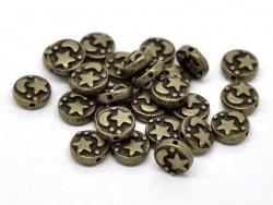 Perle metal ciel étoilé - couleur bronze