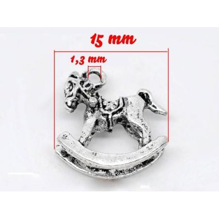 Acheter 1 Breloque cheval à bascule / argentée - 0,89€ en ligne sur La Petite Epicerie - Loisirs créatifs