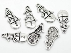 1 snowman charm - silver-coloured