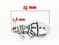 1 snowman charm - silver-coloured
