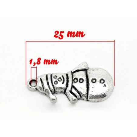Acheter 1 breloque bonhomme de neige - argentée - 0,59€ en ligne sur La Petite Epicerie - 100% Loisirs créatifs