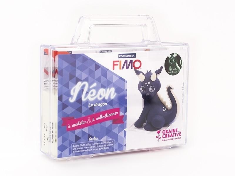 Acheter Kit Fimo - Malette Néon le dragon phosphorescent- figurine à modeler - 13,99€ en ligne sur La Petite Epicerie - Lois...