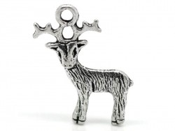 1 reindeer charm - silver-coloured