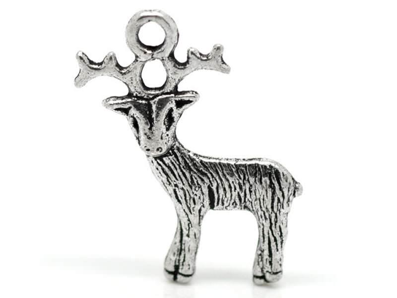 Acheter 1 breloque renne de noël - argentée - 0,79€ en ligne sur La Petite Epicerie - Loisirs créatifs