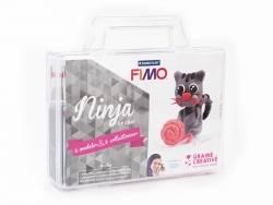 Kit Fimo - Malette Ninja le chat - figurine à modeler