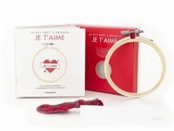 Acheter Livre / Kit prêt à broder - Je t'aime - 5,95€ en ligne sur La Petite Epicerie - 100% Loisirs créatifs