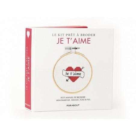 Livre / Kit prêt à broder - Je t'aime Marabout - 5
