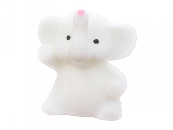 Mini squishy Éléphant blanc - anti stress  - 1
