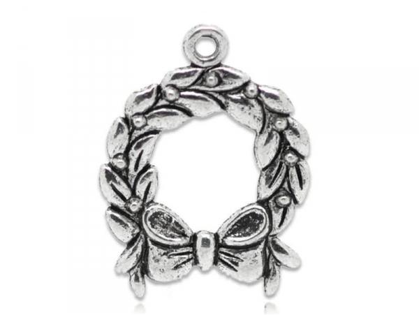 1 Advent wreath charm - silver-coloured