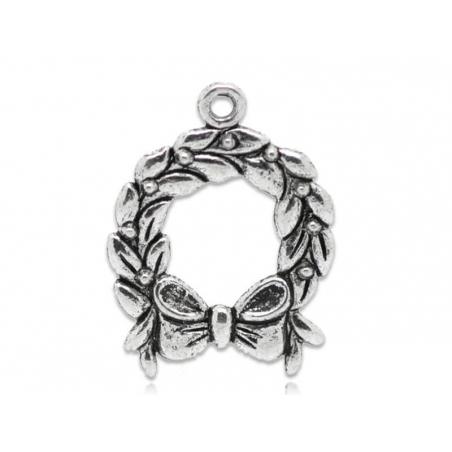 Acheter 1 breloque couronne de noël - argentée - 0,99€ en ligne sur La Petite Epicerie - Loisirs créatifs