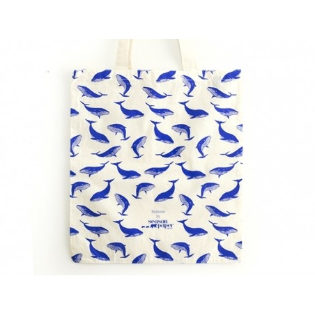 Tote bag baleines  Season Paper - 3