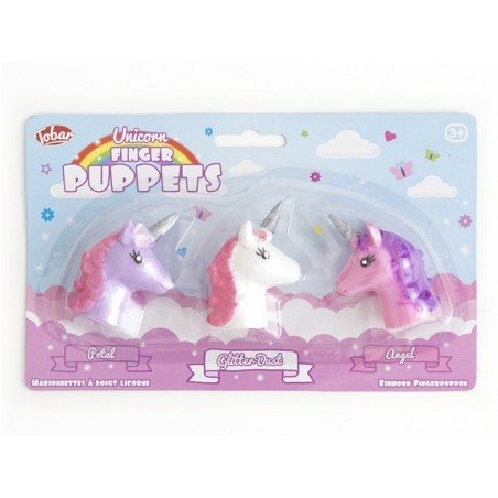 Acheter Lot de 3 marionnettes à doigts - Licornes - 6,49€ en ligne sur La Petite Epicerie - Loisirs créatifs